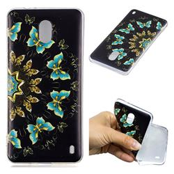 Circle Butterflies Super Clear Soft TPU Back Cover for Nokia 2