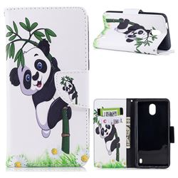 Bamboo Panda Leather Wallet Case for Nokia 2
