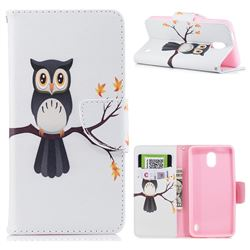 Owl on Tree Leather Wallet Case for Nokia 2