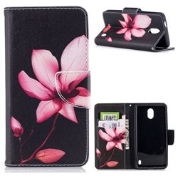 Lotus Flower Leather Wallet Case for Nokia 2