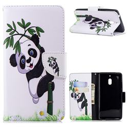 Bamboo Panda Leather Wallet Case for Nokia 2.1