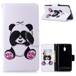 Lovely Panda Leather Wallet Case for Nokia 2.1