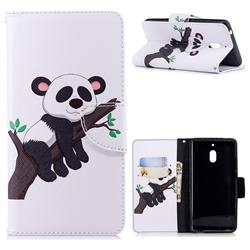 Tree Panda Leather Wallet Case for Nokia 2.1