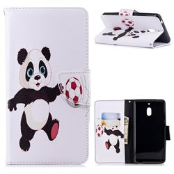 Football Panda Leather Wallet Case for Nokia 2.1