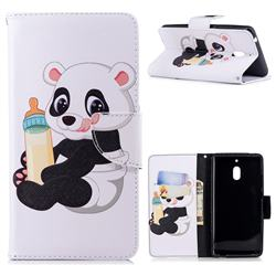 Baby Panda Leather Wallet Case for Nokia 2.1