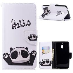 Hello Panda Leather Wallet Case for Nokia 2.1