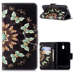 Circle Butterflies Leather Wallet Case for Nokia 2.1