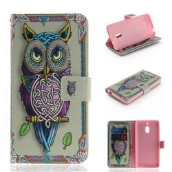 Weave Owl PU Leather Wallet Case for Nokia 2.1