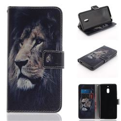 Lion Face PU Leather Wallet Case for Nokia 2.1