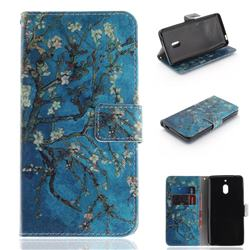 Apricot Tree PU Leather Wallet Case for Nokia 2.1