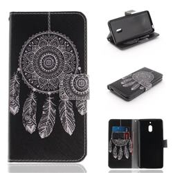 Black Wind Chimes PU Leather Wallet Case for Nokia 2.1