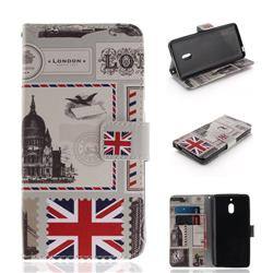 London Envelope PU Leather Wallet Case for Nokia 2.1