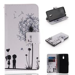 Couple Dandelion PU Leather Wallet Case for Nokia 2.1