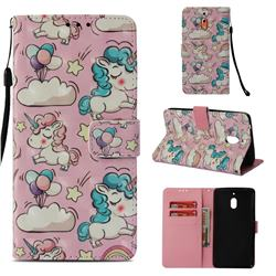 Angel Pony 3D Painted Leather Wallet Case for Nokia 2.1