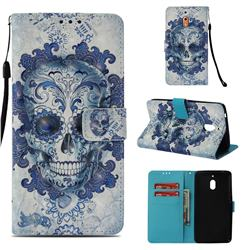 Cloud Kito 3D Painted Leather Wallet Case for Nokia 2.1