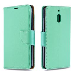 Classic Luxury Litchi Leather Phone Wallet Case for Nokia 2.1 - Green