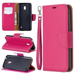 Classic Luxury Litchi Leather Phone Wallet Case for Nokia 2.2 - Rose