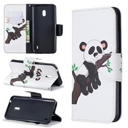 Tree Panda Leather Wallet Case for Nokia 2.2