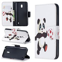 Football Panda Leather Wallet Case for Nokia 2.2