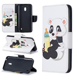 Baby Panda Leather Wallet Case for Nokia 2.2