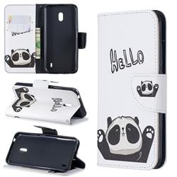 Hello Panda Leather Wallet Case for Nokia 2.2