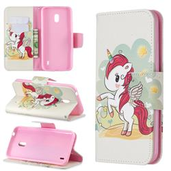 Cloud Star Unicorn Leather Wallet Case for Nokia 2.2