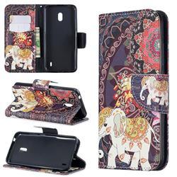 Totem Flower Elephant Leather Wallet Case for Nokia 2.2