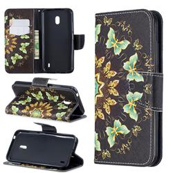 Circle Butterflies Leather Wallet Case for Nokia 2.2