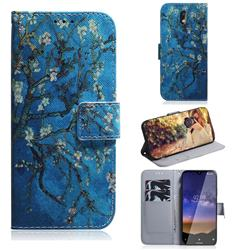 Apricot Tree PU Leather Wallet Case for Nokia 2.2