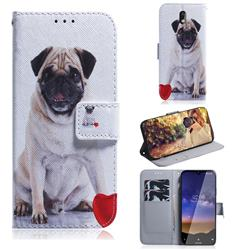 Pug Dog PU Leather Wallet Case for Nokia 2.2