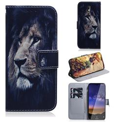 Lion Face PU Leather Wallet Case for Nokia 2.2