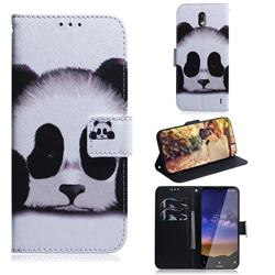 Sleeping Panda PU Leather Wallet Case for Nokia 2.2