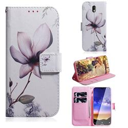 Magnolia Flower PU Leather Wallet Case for Nokia 2.2
