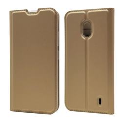 Ultra Slim Card Magnetic Automatic Suction Leather Wallet Case for Nokia 2.2 - Champagne