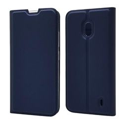 Ultra Slim Card Magnetic Automatic Suction Leather Wallet Case for Nokia 2.2 - Royal Blue