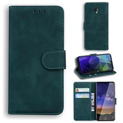 Retro Classic Skin Feel Leather Wallet Phone Case for Nokia 2.2 - Green