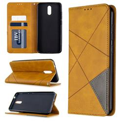 Prismatic Slim Magnetic Sucking Stitching Wallet Flip Cover for Nokia 2.3 - Yellow