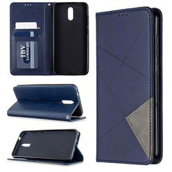 Prismatic Slim Magnetic Sucking Stitching Wallet Flip Cover for Nokia 2.3 - Blue
