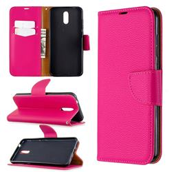 Classic Luxury Litchi Leather Phone Wallet Case for Nokia 2.3 - Rose