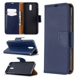 Classic Luxury Litchi Leather Phone Wallet Case for Nokia 2.3 - Blue
