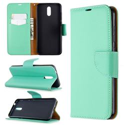 Classic Luxury Litchi Leather Phone Wallet Case for Nokia 2.3 - Green