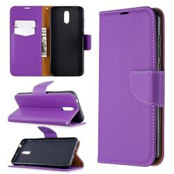 Classic Luxury Litchi Leather Phone Wallet Case for Nokia 2.3 - Purple