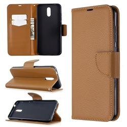 Classic Luxury Litchi Leather Phone Wallet Case for Nokia 2.3 - Brown