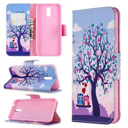 Tree and Owls Leather Wallet Case for Nokia 2.3