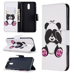 Lovely Panda Leather Wallet Case for Nokia 2.3
