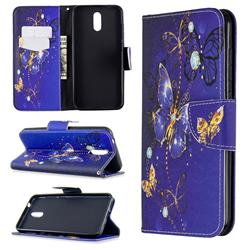 Purple Butterfly Leather Wallet Case for Nokia 2.3