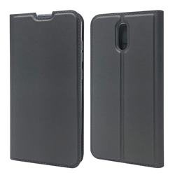 Ultra Slim Card Magnetic Automatic Suction Leather Wallet Case for Nokia 2.3 - Star Grey