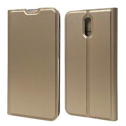 Ultra Slim Card Magnetic Automatic Suction Leather Wallet Case for Nokia 2.3 - Champagne