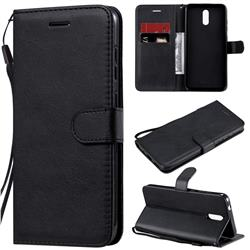 Retro Greek Classic Smooth PU Leather Wallet Phone Case for Nokia 2.3 - Black