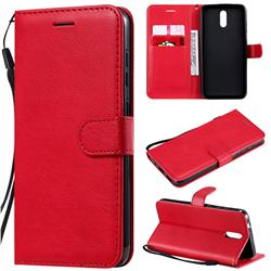 Retro Greek Classic Smooth PU Leather Wallet Phone Case for Nokia 2.3 - Red